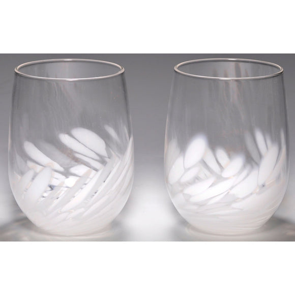The Furnace Glassworks Vino Breve Glasses Shown In White Functional Artisan Handblown Art Glass Glasses