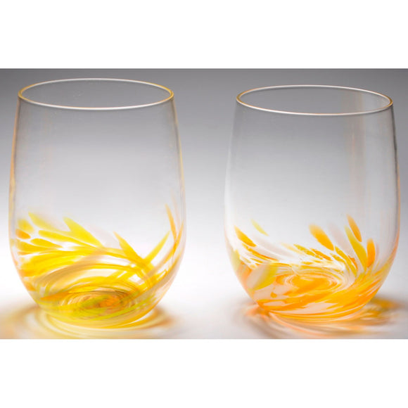 The Furnace Glassworks Vino Breve Glasses Shown In Yellow Functional Artisan Handblown Art Glass Glasses