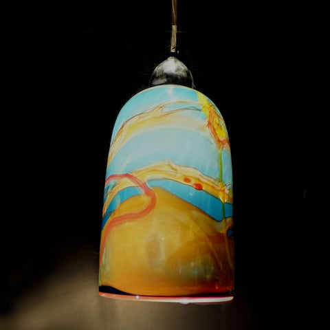 The Glass Forge Straight Taper Pendant Light Show In Wolfe Artistic Functional Artisan Handblown Art Glass Pendant Lights
