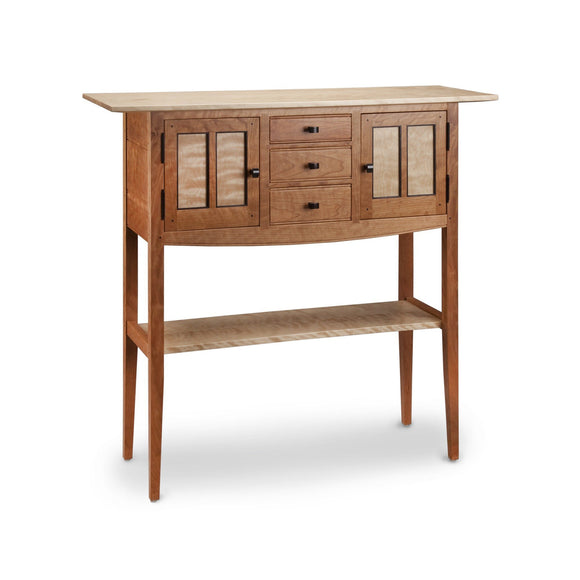 Thomas William Furniture Cherry Foyer Sideboard Table, Artistic Artisan Designer Tables