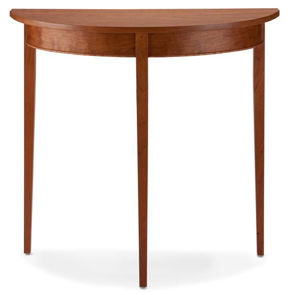 Thomas William Furniture Cherry Wood Demilune Table Artistic Artisan Designer Tables