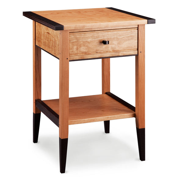 Thomas William Furniture Cherry and Wenge Wood End Table Artistic Artisan Designer End Tables