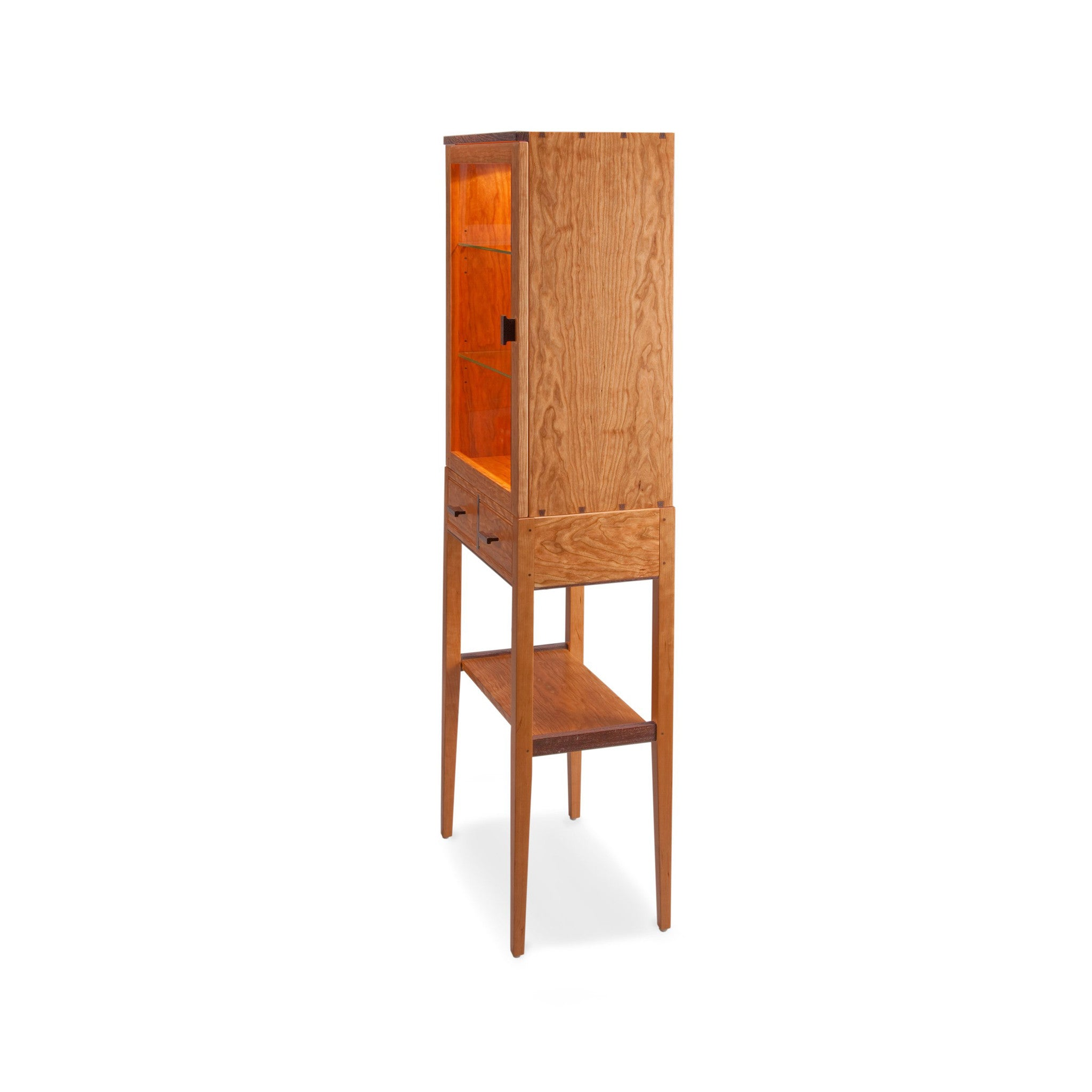 ... Thomas William Furniture Tall Cherry Display Cabinet 2 ...