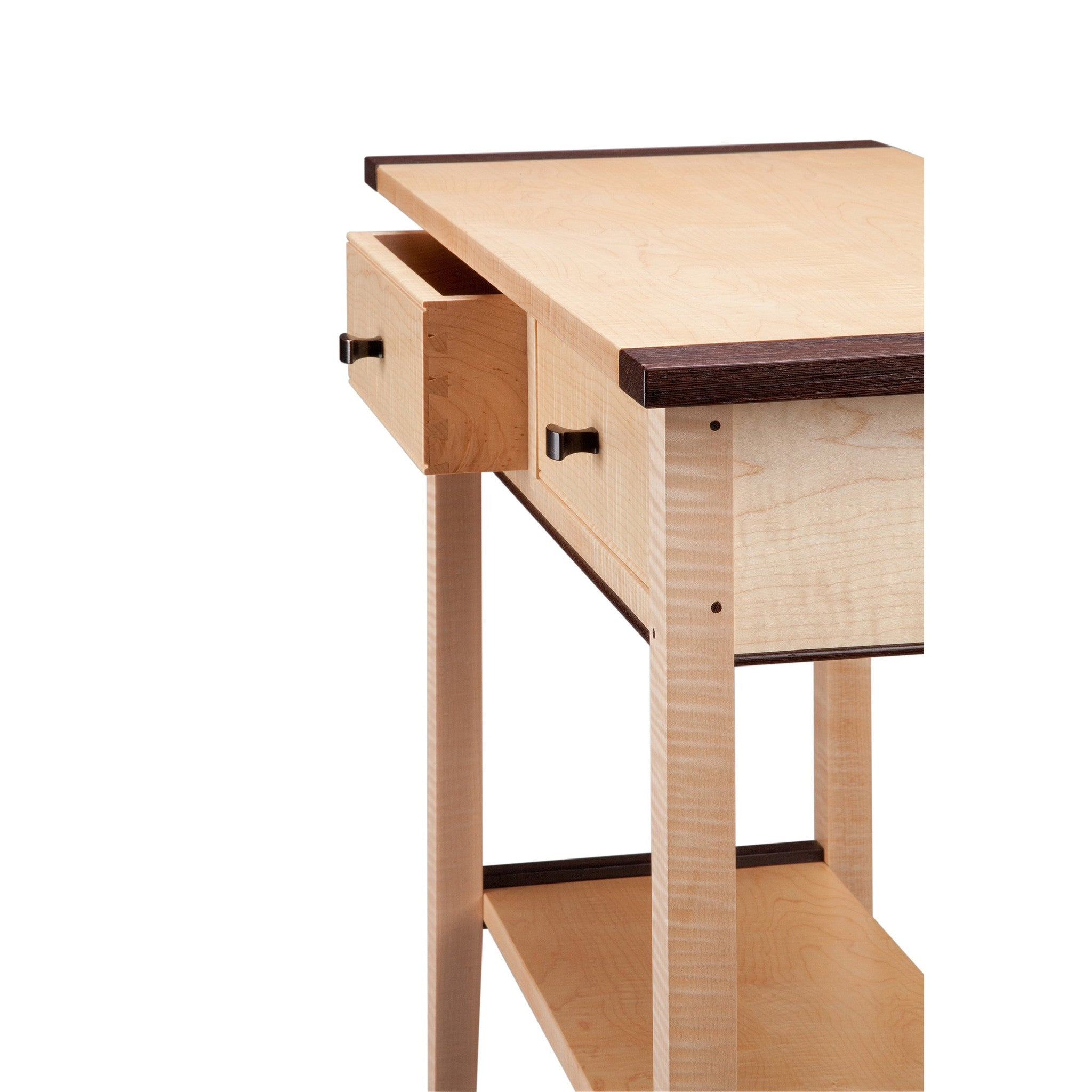 artisan hall thomas drawer maple furniture artistic table two tiger william side designer products tables