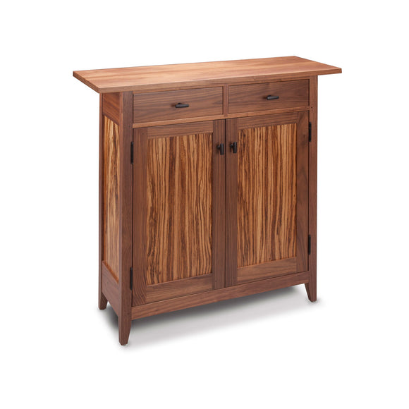 Thomas William Furniture Tom Dumke Zebrawood Two Drawer Side Cabinet 03a Shaker Style Cabinets Furniture