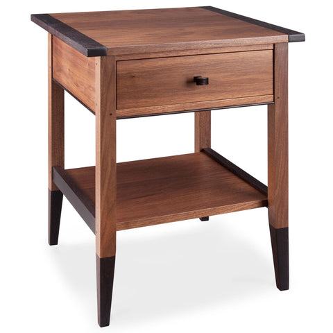 Thomas William Furniture Walnut and Wenge End Table Artistic Artisan Designer End Tables