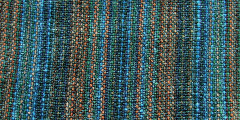 Chenille Scarf in Mineral Springs Teal by Trillium Weavers