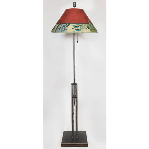 Janna Ugone and Co. Adjustable Height Steel Floor Lamp LG562-AS with Large Conical Shade