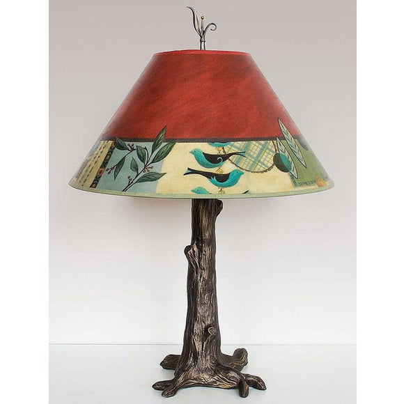Janna Ugone and Co. Bronze Tree Table Lamp RLG562-TR with Large Conical Shade