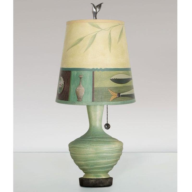 Ugone and thomas ceramic base table lamp plg750 p in jade with small ugone and thomas ceramic base table lamp plg750 p in jade with small drum shade aloadofball Image collections