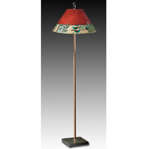 Ugone and Thomas Copper Floor Lamp FLG562-C with Large Conical Shade