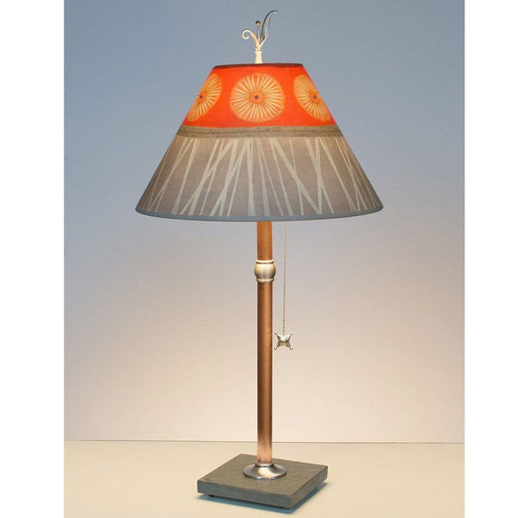 Janna Ugone and Co. Copper Table Lamp RLG162-C with Medium Conical Shade