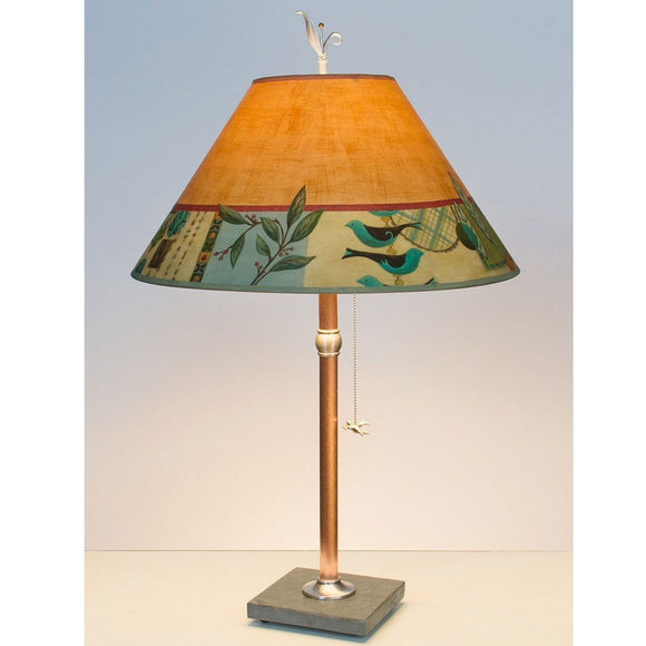 Janna Ugone and Co. Copper Table Lamp RLG562-C with Large Conical Shade