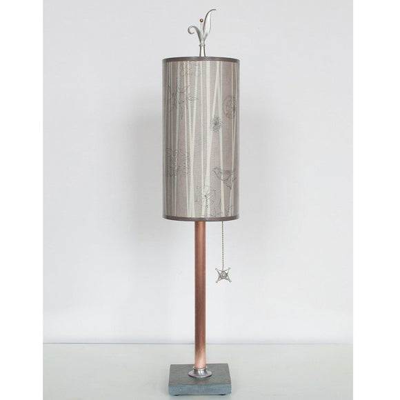 Janna Ugone and Co. Copper Table Lamp RLG720-C with Small Tube Shade