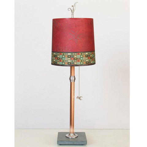 Janna Ugone and Co. Copper Table Lamp RLG810-C with Medium Drum Shade