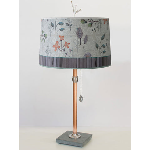 Janna Ugone and Co. Copper Table Lamp RLG862-C with Large Drum Shade