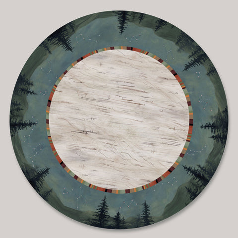 Janna Ugone and Co. Lazy Susan in Birch Midnight LAZ BMID Artistic Artisan Designer Lazy Susans
