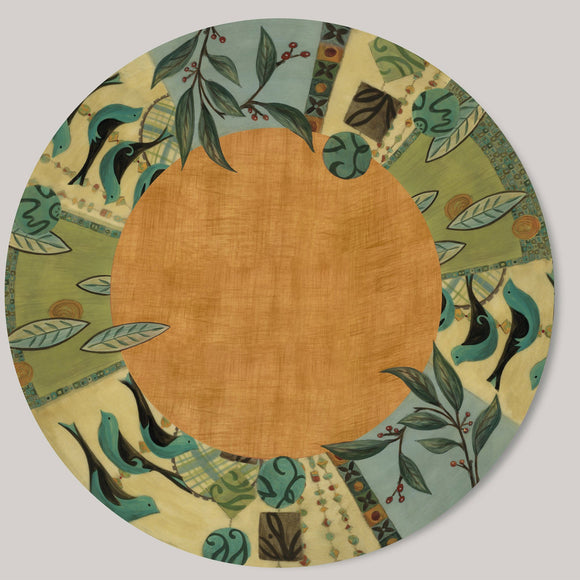 Janna Ugone and Co. Lazy Susan in New Capri Spice LAZ NCS Artistic Artisan Designer Lazy Susans