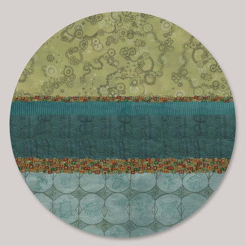 Janna Ugone and Co. Lazy Susan in Paradise in Pool LAZ PRP Artistic Artisan Designer Lazy Susans