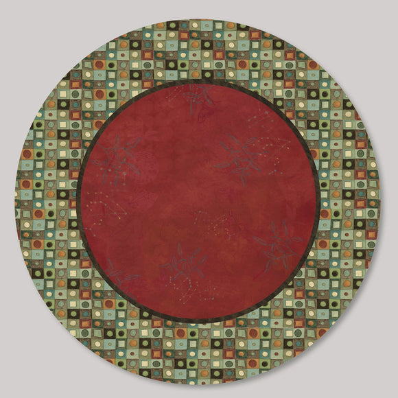 Janna Ugone and Co. Lazy Susan in Red Mosaic LAZ RM Artistic Artisan Designer Lazy Susans