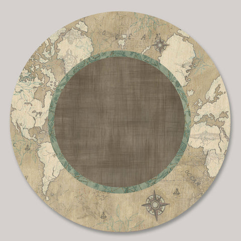 Janna Ugone and Co. Lazy Susan in Voyages in Sand LAZ VOS Artistic Artisan Designer Lazy Susans