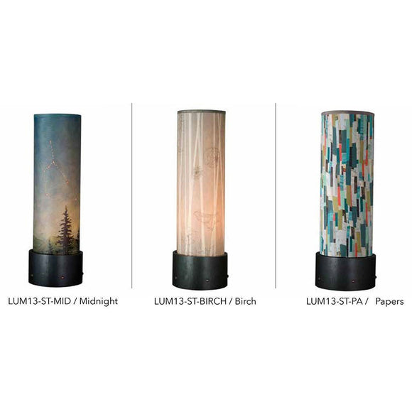 Janna Ugone and Co. Luminaire Accent Lamps with Steel and Copper Base LUM13 Artistic Designer Table Lamps