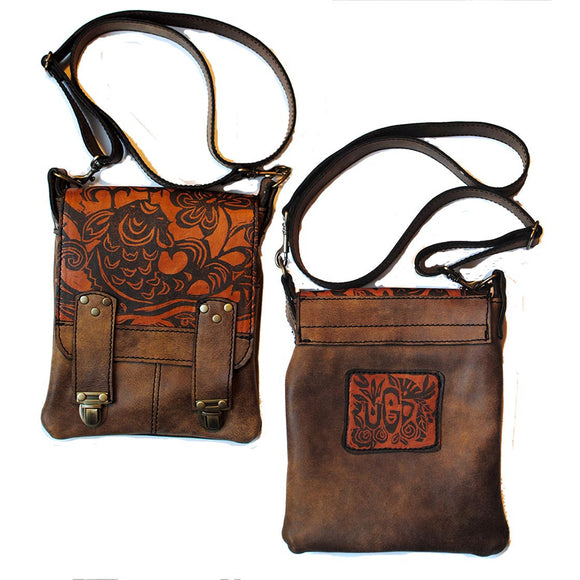 Leeds Handbag in Koi Print and Lodge Color by Urban Gypsy Design, Christina Hankins, Artistic Designer Handbags