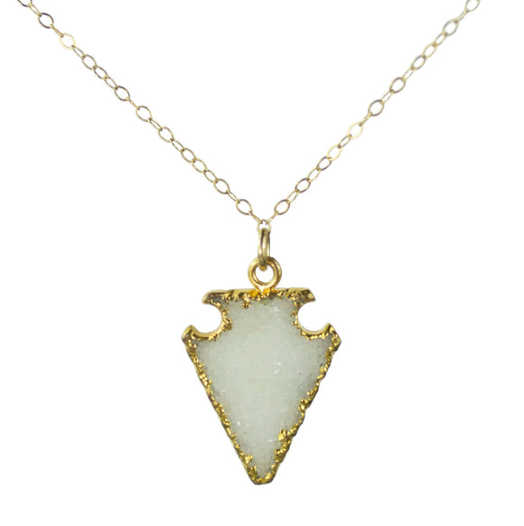 Vannucci Jewelry by Justine Agate Druzy Necklace N202DZY