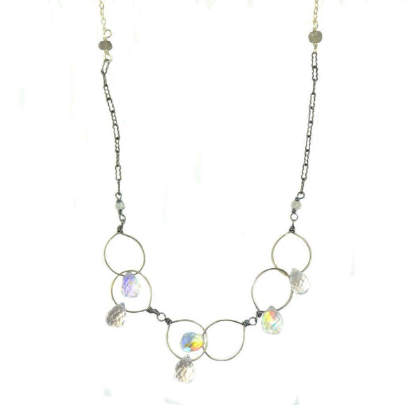 Vannucci Design by Justine Galaxy Gunmetal Necklace NR3056