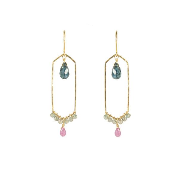 Vannucci Jewelry by Justine Kyanite Pink Sapphire Zircon Earrings E020TRP