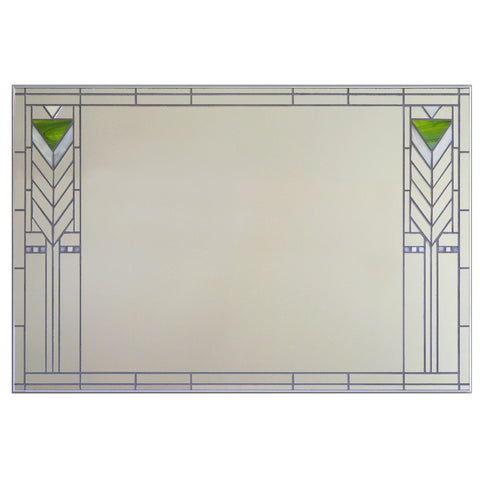 Victoria Primicias Francesco Prairie Style Stained Glass Mirror Artistic Artisan Designer Mirrors
