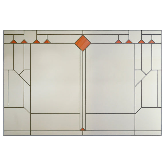 Victoria Primicias Marrakech Prairie Style Stained Glass Mirror Artistic Artisan Designer Mirrors