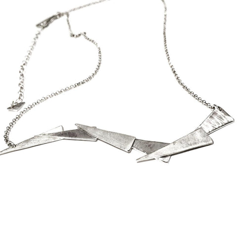 Fibonacci Wave Sterling Silver Necklace FWN001 by Votive Designs Jewelry