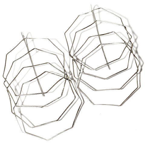 Octagon Web Sterling Silver Earrings OWE002 by Votive Designs Jewelry