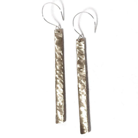 Skinny Fries 14K Gold Fill and Sterling Silver Earrings SFE002 by Votive Designs Jewelry