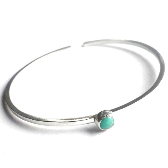 Votive Designs Jewelry Solitaire Bangle Turquoise Bracelet TSBB003 Artistic Artisan Designer Jewelry