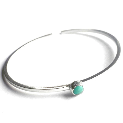 Solitaire Bangle Turquoise Bracelet TSBB003 by Votive Designs Jewelry