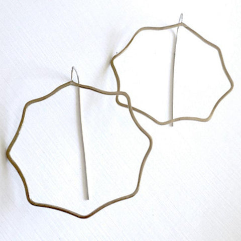 Wavy Octagon Mod Hoop Earrings WOHE002 by Votive Designs Jewelry