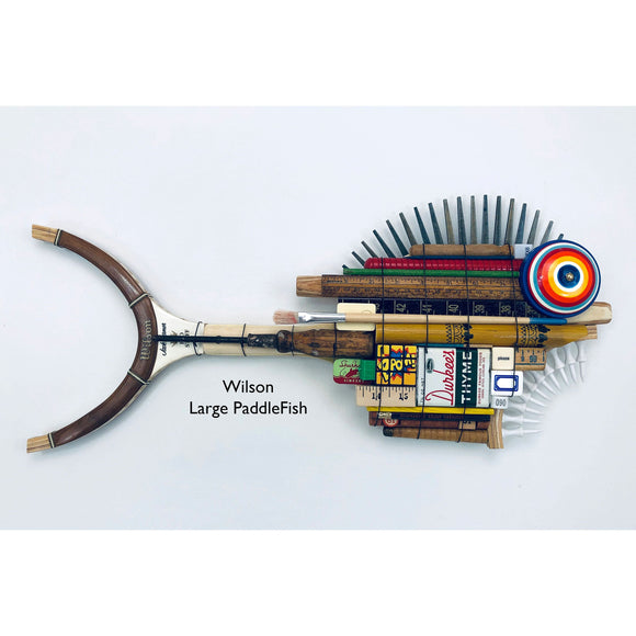 Wilson Large Pickle Ball Racket PaddleFish with Nails Fin Fish Wall Art Sculpture by Stephen Palmer Running Dog Studios