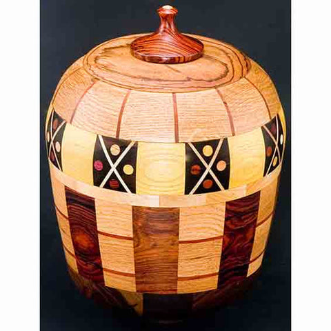 Winchester Woodworks Lidded Urn 59, Artistic Artisan Wood Turned Urns
