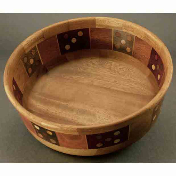 Winchester Woodworks Segmented Bowl 1267, Artistic Artisan Wood Turned Bowls