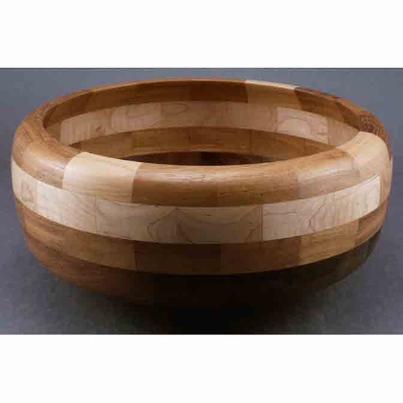 Winchester Woodworks Segmented Bowl 1289, Artistic Artisan Wood Turned Bowls