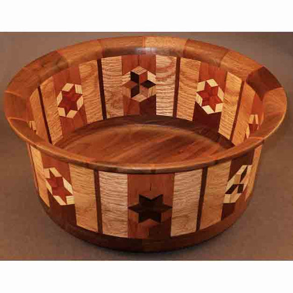 Winchester Woodworks Segmented Bowl 1292, Artistic Artisan Wood Turned Bowls