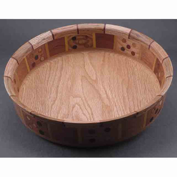 Winchester Woodworks Segmented Bowl 1305, Artistic Artisan Wood Turned Bowls