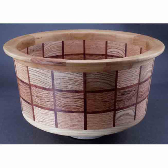 Winchester Woodworks Segmented Bowl 1308, Artistic Artisan Wood Turned Bowls