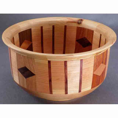 Winchester Woodworks Segmented Bowl 218, Artistic Artisan Wood Turned Bowls