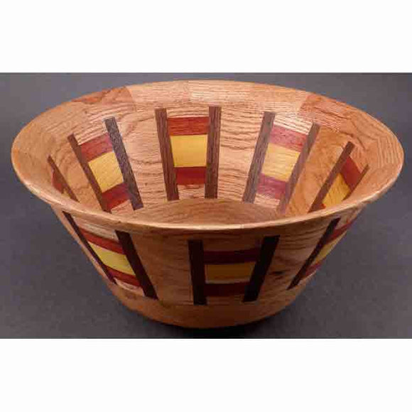 Winchester Woodworks Segmented Bowl 222, Artistic Artisan Wood Turned Bowls