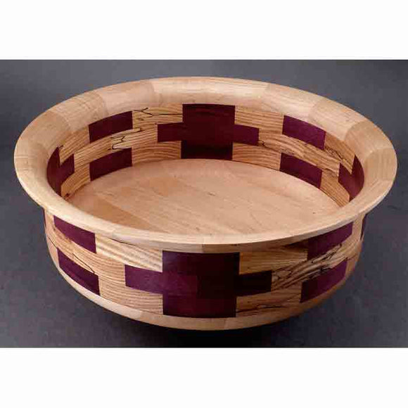 Winchester Woodworks Segmented Bowl 997, Artistic Artisan Wood Turned Bowls
