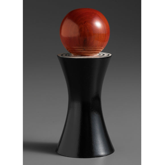 Wood Salt or Pepper Mill Grinder Alpha in Black Red and White by Robert Wilhelm of Raw Design Artistic Artisan Designer Handmade Wood Salt And Pepper Mills Grinders and Shakers