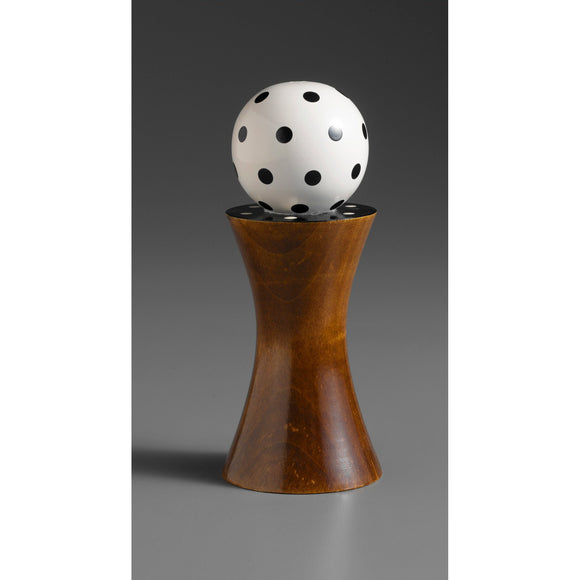 Wood Salt or Pepper Mill Grinder Alpha in Brown Black and White by Robert Wilhelm of Raw Design Artistic Artisan Designer Handmade Wood Salt And Pepper Mills Grinders and Shakers